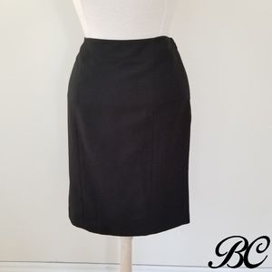 Jones Studio Skirt Black Pencil Straight Work
